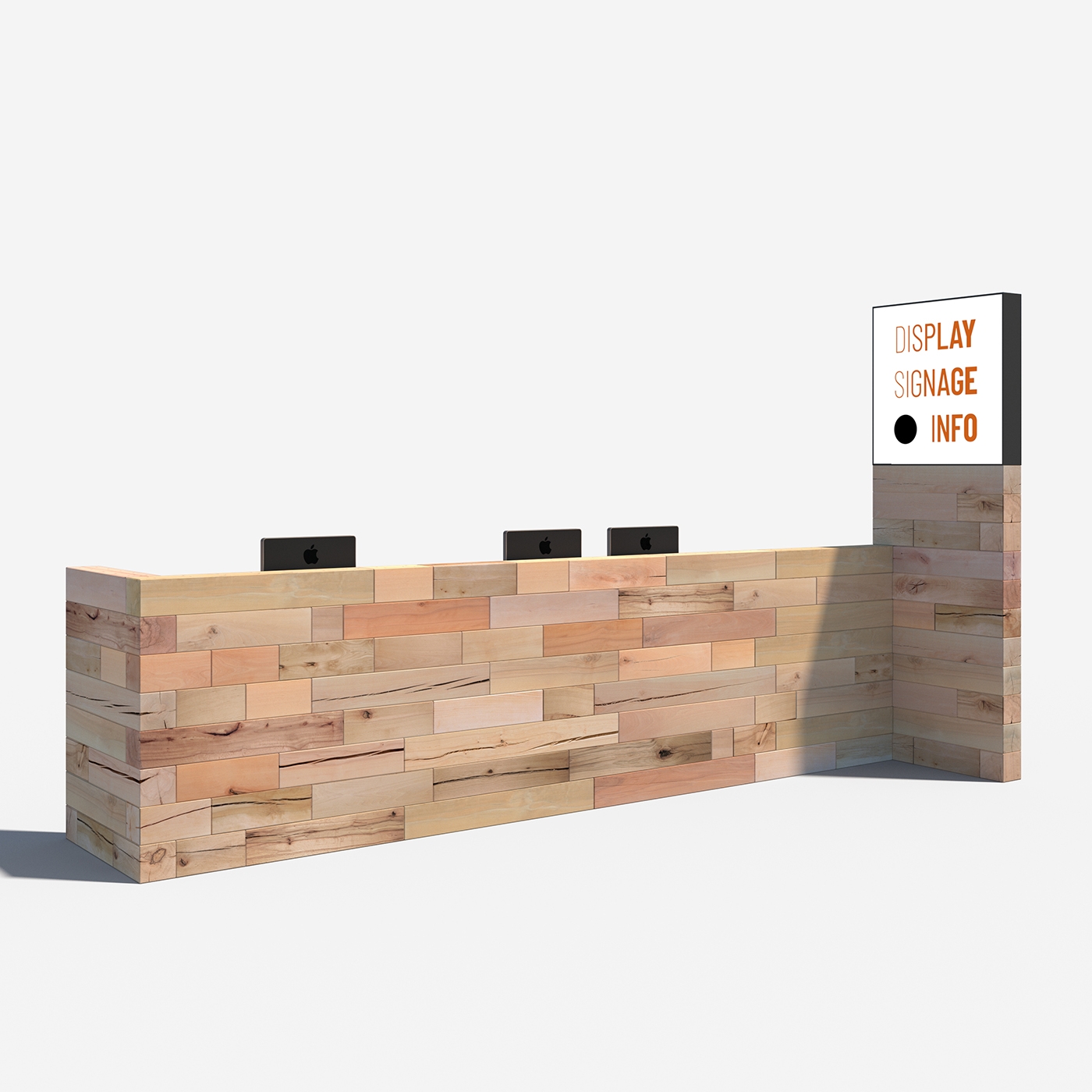 Z-Shaped reception desk